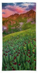 Hand Towel featuring the photograph San Juan Sunrise by Darren White