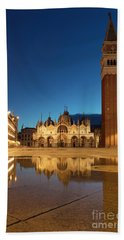 Hand Towel featuring the photograph San Marco Twilight by Brian Jannsen