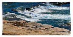 San Marcos River Waterfall  Bath Towel by Ray Shrewsberry