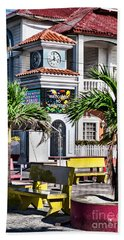 Bath Towel featuring the photograph San Pedro Town Plaza by Lawrence Burry