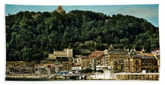 San Sebastian Spain Hand Towel by Mary Machare