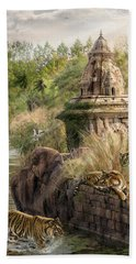 Hand Towel featuring the digital art Sanctuary by Don Olea