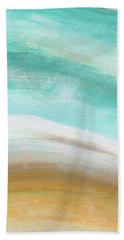 Sand And Saltwater- Abstract Art By Linda Woods Bath Towel