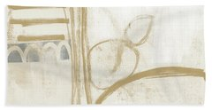 Sand And Stone 3- Contemporary Abstract Art By Linda Woods Hand Towel