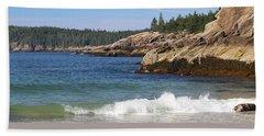 Sand Beach Acadia Hand Towel by Living Color Photography Lorraine Lynch