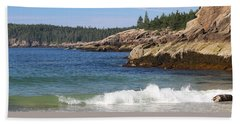Bath Towel featuring the photograph Sand Beach Acadia by Living Color Photography Lorraine Lynch