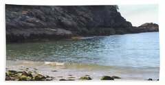 Sand Beach At Acadia Hand Towel by Living Color Photography Lorraine Lynch