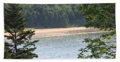 Sand Beach From A Distance Hand Towel by Living Color Photography Lorraine Lynch