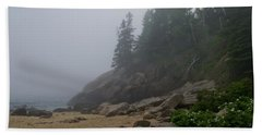 Sand Beach In A Fog Hand Towel