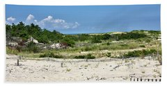 Hand Towel featuring the photograph Sand Dune In Cape Henlopen State Park - Delaware by Brendan Reals