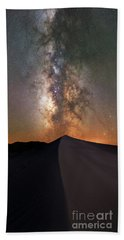 Sand Dune Milky Way Panorama Bath Towel