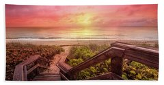 Hand Towel featuring the photograph Sand Dune Morning by Debra and Dave Vanderlaan