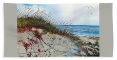 Sand Dunes And Sea Oats Hand Towel