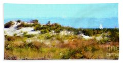 Hand Towel featuring the photograph Sand Dunes Assateague Island by Janine Riley