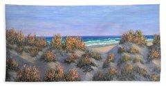 Sand Dunes Sea Grass Beach Painting Hand Towel
