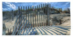 Sand Fence Bath Towel by Greg Reed