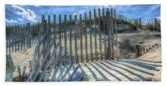 Sand Fence Hand Towel