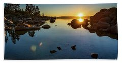 Sand Harbor Sunset Bath Towel