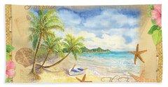 Sand Sea Sunshine On Tropical Beach Shores Hand Towel