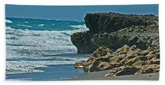 Sand Surf And Rock Bath Towel