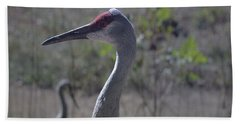 Sandhill Crane Early Fall Bath Towel