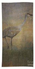 Sandhill Crane Watercolor Hand Towel