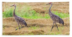 Hand Towel featuring the photograph Sandhill Pair  by Ricky L Jones