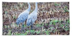 Sandhills In Their Fall Coat Hand Towel by Ricky L Jones