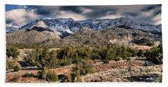 Sandia Mountain Landscape Hand Towel by Alan Toepfer