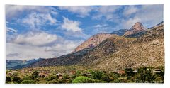 Hand Towel featuring the photograph Sandias Magic by Gina Savage