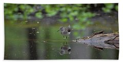 Sandpiper In The Smokies Bath Towel by Douglas Stucky