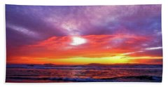Sandpiper Sunset Ventura California Hand Towel