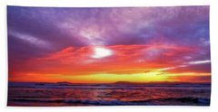 Sandpiper Sunset Ventura California Bath Towel