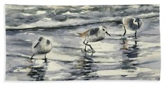 Sandpipers 3  12-11-17 Hand Towel