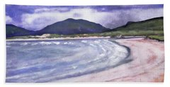 Hand Towel featuring the painting Sands, Harris by Richard James Digance
