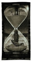 Sands Of Time ... Memento Mori - Monochrome Hand Towel