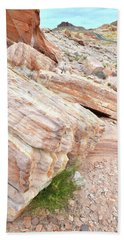 Hand Towel featuring the photograph Sandstone Along Park Road In Valley Of Fire by Ray Mathis