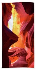 Hand Towel featuring the photograph  Sandstone Collection 1 Ablaze by Brad Scott