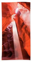 Hand Towel featuring the photograph Sandstone Collection 3 Heart Chamber by Brad Scott
