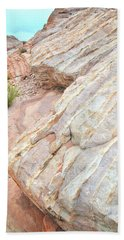 Bath Towel featuring the photograph Sandstone Feet In Valley Of Fire by Ray Mathis