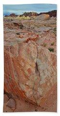 Sandstone Shield In Valley Of Fire Bath Towel