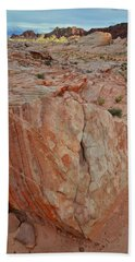 Sandstone Shield In Valley Of Fire Bath Towel
