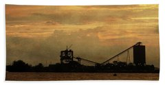 Sandusky Coal Dock Sunset Hand Towel