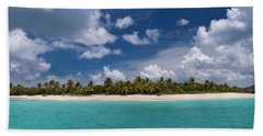 Bath Towel featuring the photograph Sandy Cay Beach British Virgin Islands Panoramic by Adam Romanowicz