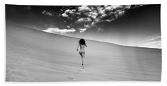 Sandy Dune Nude - Catching The Clouds Bath Towel