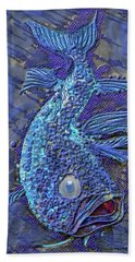 Sandy Fish Hand Towel