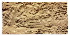 Sandy Footprints Bath Towel