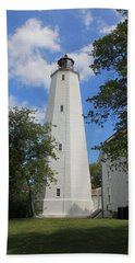 Sandy Hook Lighthouse Tower Hand Towel