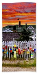 Sandy Neck Sunset Bath Towel