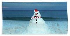 Sandy The Snowman Bath Towel